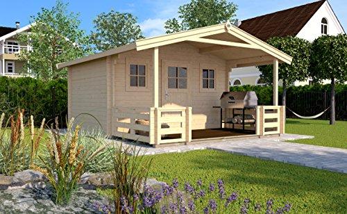 Weka Gartenhaus 135 Gr. 2 mit Vordach und Terrasse