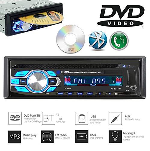 GOFORJUMP 1 Din 12 V Auto DVD CD-speler voertuig MP3 Stereo Auto Handfree Autoradio BT Audio Radio 5014 Car-Styling Wireless Remote Control