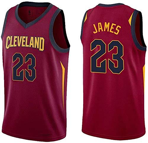 FSBYB 23 Trikot Nr, Cavaliers 23 James James Weste, 23# Basketball Uniform,Rot,XXXXL