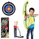 Bow and Arrow Kids, ANNA SHOP Archery Set Kids Bow and Arrow Sport Shooting Archery Toys Set with LED Light...