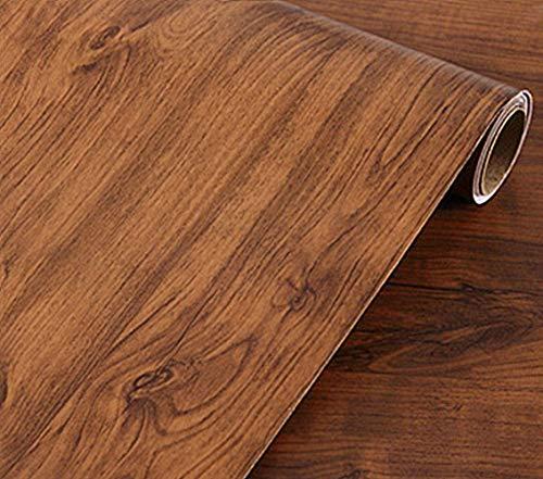 Klebefolie für Möbel, Schränke, Schrank, Regal, Tapete, 40 x 200 cm, Braun