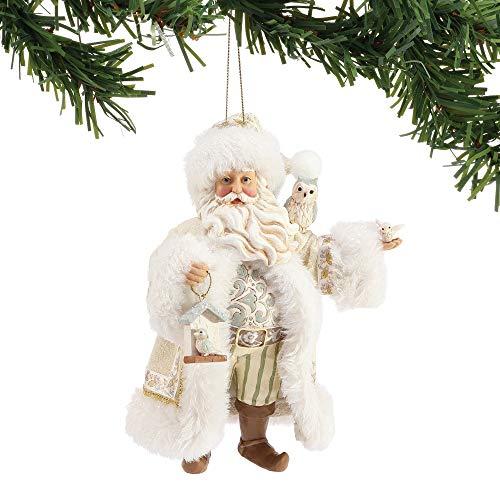 Enesco Department 56 Possible Dreams Jim Shore Winter White Santa Hanging Ornament, 6 Inch, Multicolor