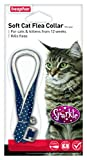 Beaphar Cat Flea Sparkle Collar, Pack of 2, Colours May Vary, Red/ Black/ Blue