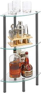 mDesign étagère Salle de Bain Moderne avec Pieds en métal – Valet de Douche élégant à 3 Niveaux – étagère de Bain, Bureau ...