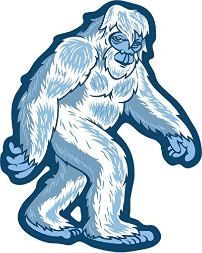Yeti Sticker Abominable Snow Monster Shaped Die-Cut Decal Folklore Creature Legend I Believe Hunting Searching for Snowman for Water Bottle Decal