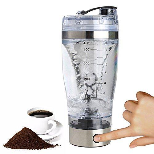Iraza Agitador Eléctrico Proteínas Shaker Botella, Coctelera para Batidos de Proteínas con Tecnología de Vórtice 450ML