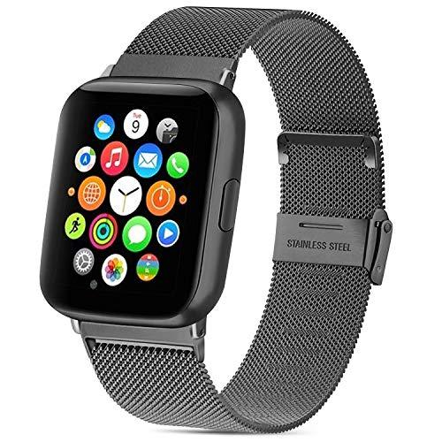 Vancle コンパチブル Apple Watch バンド 38mm 40mm 42mm 44mm ミラネーゼループ アップルウォッチバンド コンパチブル Apple Watch Series 5/4/3/2/1に対応 ステンレス留め金 (38mm/40mm, スペースグレー)