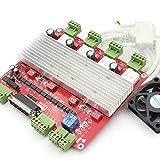 RATTMMOTOR 4 ejes TB6560 Nema 23 placa controladora de motor paso a paso CNC controlador Breakout placa 3A 12-32V DC 4V tipo con cable paralelo para fresadora CNC grabadora fresadora