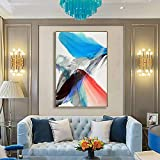 SADHAF Modern Colorful Abstract Art Canvas Painting Print Decoración del hogar sobre lienzo Poster Wall Art A4 60x80cm