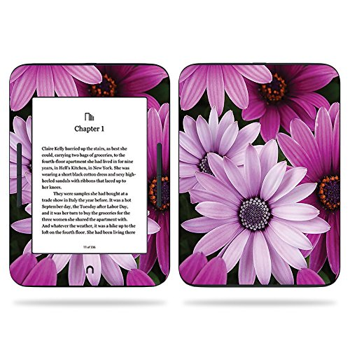 MightySkins Skin Compatible with Barnes & Noble Nook GlowLight 3 (2017) - Purple Flowers | Protective, Durable, and Unique Vinyl Decal wrap Cover | Easy to Apply, Remove | Made in The USA