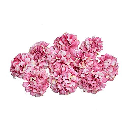 QWERTYU 10 stks 4.5 CM kunstbloem zijde hortensia bloem hoofd voor bruiloft partij thuis decoratie DIY krans geschenkdoos scrapbook ambacht LIFUQIANGME