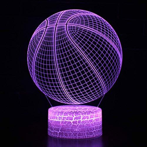 Basketbal Hema nachtlampje kinderen nachtlampje 3D optische 7 kleuren selecteerbaar dimbare touch schakelaar nachtlampje verjaardagscadeau