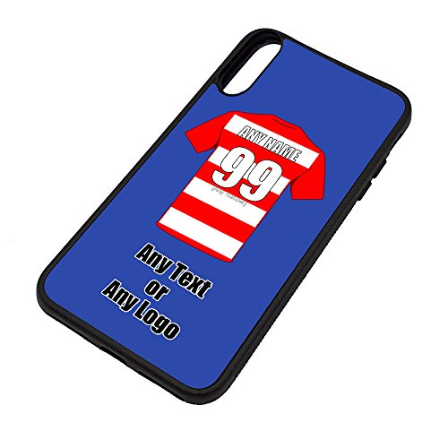 UNIGIFT Personalised Gift - Hamilton Academical iPhone X/Xs Case (Football Design Colour) - Any Name Message Unique TPU Mobile Cover Apple - The Accies Club