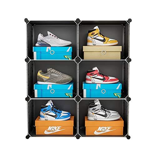 HHJJ Caja de Zapatos, Conjunto de 6 organizadores de Almacenamiento de Zapatos. Estante Pesado.
