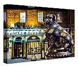 CCRETROILUMINADOS Estatua SkyeTerrier Greyfriars Bobby Ediburgo Cuadro Retroiluminado, Metacrilato, Multicolor, 60 x 80