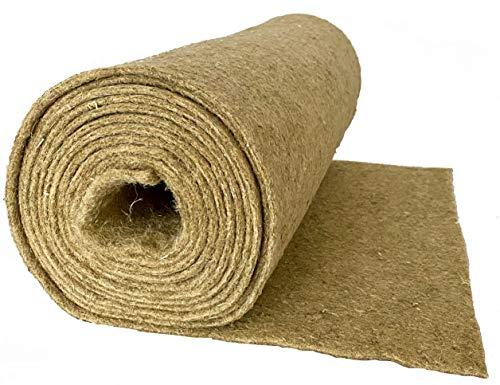 Alfombra para roedores hecha de 100% de cáñamo, vendida por metro, 0,60 m x 5,00 m x 0,5 cm de espesor (EUR 7,97 / m²), alfombra para roedores adecuada como revestimiento de piso en jaula, p.