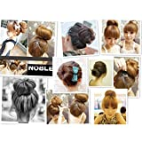Lurrose 3pcs Hair Donut Bun Maker Ponytail Bun Hairdessing Accessori Hairstyle Tool Styling Maker for Ladies Coffee