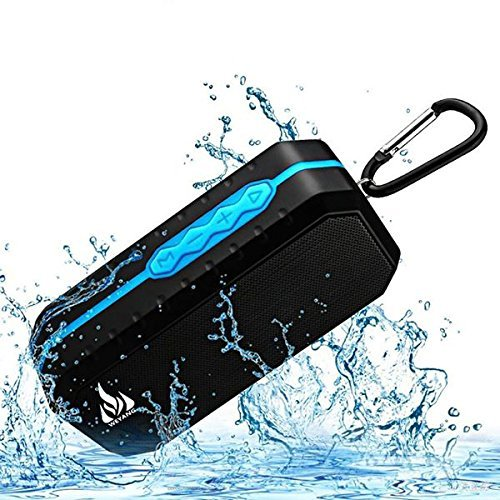 Bluetooth Wireless Speakers Waterproof IPX5 With HD Enhanced Bass Outdoor Wireless Portable Phone Speakers Built-in Mic Support FM AUX TF...