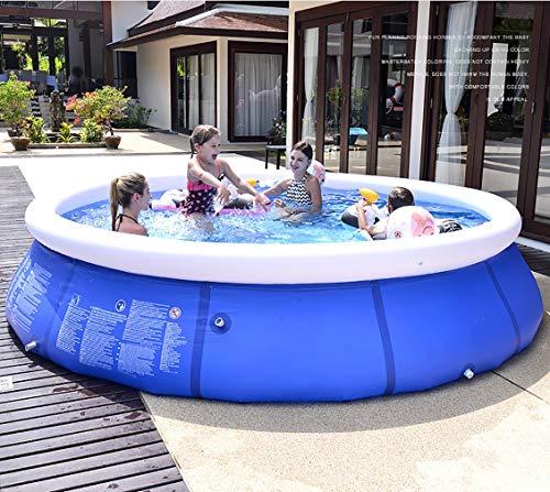 Familien Inflatable Pool paddeln für Gärten Hartschalen-Planschbecken Größe 180 * 73cm Sehr geeignet für Outdoor-Unterhaltung Courtyard Strand Blue & White