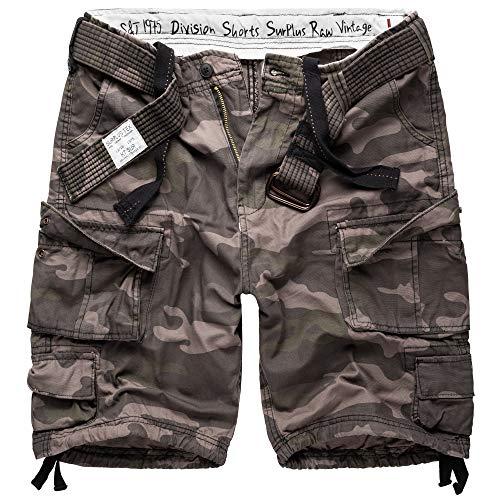 Surplus Raw Vintage Division Shorts gewaschen, Blackcamo, L