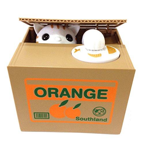 【UNTIL YOU】Gelddose Diebstahl Katzen Pandabär Elektronische Spardose witziges Geschenk für Pfötchen Sparbüchse Sparschwein Bank Piggy Bank Weihnachtsgeschenke Kinder Geschenke (Niedlich Orange-Katze)