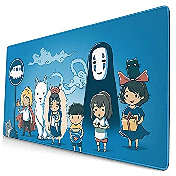 Spirited Away No Face My Neighbor Totoro Large Gaming Mouse Pad Desk Mat Long Non-Slip Rubber Stitched Edges