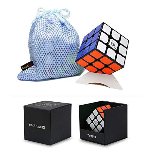 Gobus VALK 3 Power M Cubo de Velocidad Valk3 Power M Cubo mágico 3x3x3 Rompecabezas Cubo con un Soporte de Cubo y una Bolsa de Cubo (Negro)