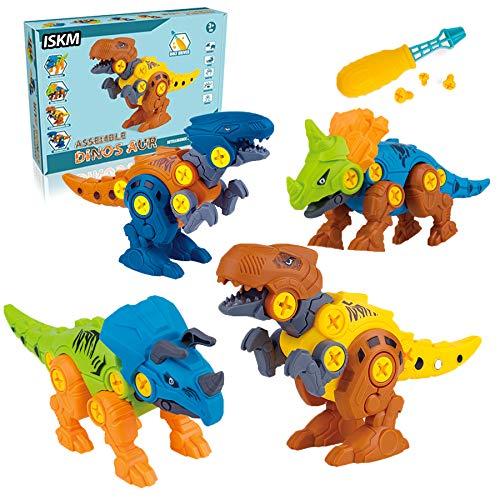 ISKM Dinosaurier Montage Spielzeug Zerlegen Dinosaurier Figuren Modellbausätze BAU Spielset STEM Lernen für Jungen Kinder MÄDCHEN
