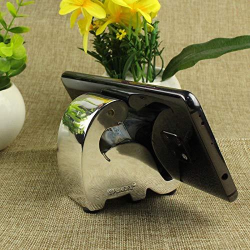 Powzz ornamento creativo teléfono móvil soporte de escritorio simple y lindo resina conveniente teléfono móvil titular tableta titular de teléfono titular de la tableta - plata