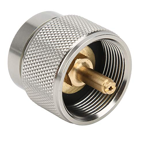 Adaptador de cilindro, adaptador de gas portátil, ropane liviana de 2 piezas para linterna de quemador de estufa