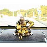 ZHIRCEKE Decoración Ceremonia de té Accesorios Púrpura Arena Mono Mono Decorativo Escultura Sun Wukgg Estatua Modelo Decoración Decoración de Coche Regalo de cumpleaños,Oro