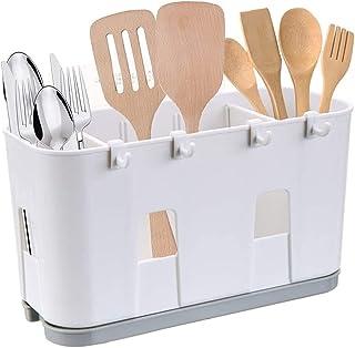 Porte-ustensiles,Porte-éponge de cuisin,Égouttoir pour ustensiles de cuisine,Boîte de rangement pour évier,Organisateur de...