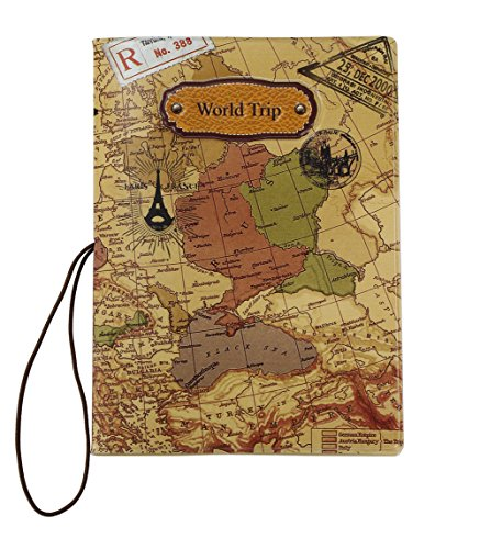 World Map 3D Passport Cover ~ NO more bent corners while Traveling ~ world trip