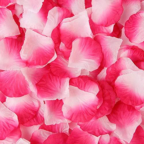 2000 stks/partij kunstmatige rozenblaadjes kleurrijke bruiloft romantische zijde rose bloem voor bruiloft decoratie, stijl 22,1000 stks