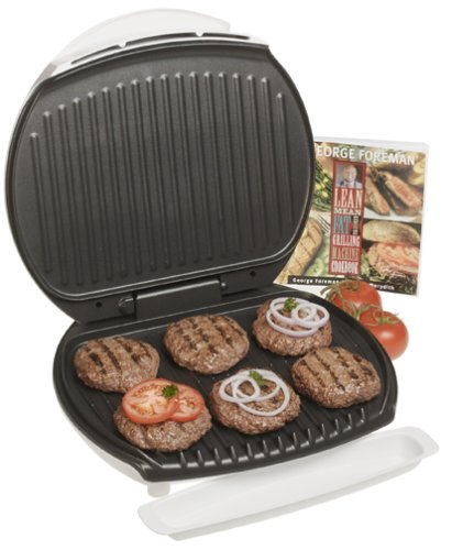 George Foreman GR36CB Jumbo Size Plus Grill with Cookbook