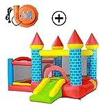 Hüpfburgen Kinder Kindergarten Trampolin Startseite Aufblasbares Schloss Platz Spielzeug for Draußen Kinder Trampolin Schloss (Color : Blue, Size : 300 * 275 * 200cm)