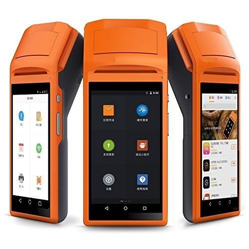 Tablette portable améliorée Terminal de PDV Système Android 6.0 Bluetooth portable sans fil Imprimante thermique 58mm PDA Sunmi V1S.
