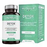 Detox Forte Fegato | Piano Detox Dimagrante e Antiossidante Vegano | Depurativo de la Tossine con Carciofo, Ravanello Nero, Vitamine e +8 Piante e Semi | 90 Capsule Vegane Nutralie