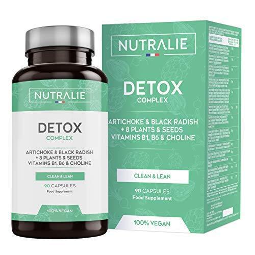 Moćni detoksikator za jetru i debelo crijevo | Vegan Detox plan za mršavljenje Sredstvo za čišćenje za uklanjanje toksina s artičokom, crnom rotkvicom, vitaminima i biljkama | 90 veganskih kapsula Nutralie