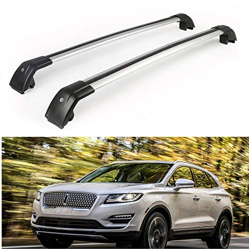 MotorFansClub Roof Racks Cross Bars Fit for Compatible with Lincoln MKC 2015-2019 Volvo XC60 2013-2018 Baggage Cargo Luggage Racks Rail Crossbars Lockable Aluminum (2 PCS)