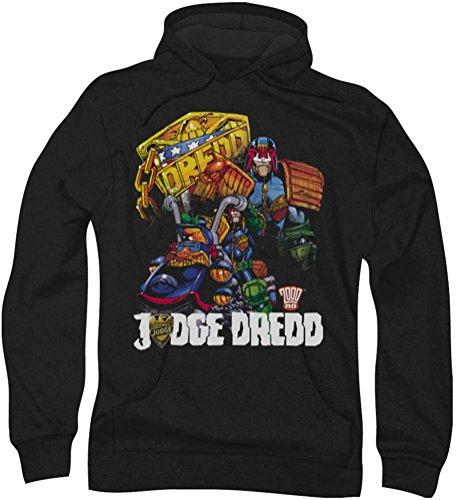 Judge Dredd - Mens Bike and Badge Hoodie, X-Large, Black