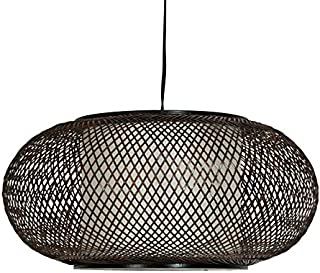 Oriental Furniture Walnut Kata Japanese Ceiling Lantern