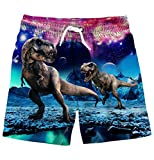 Lovekider Little Boys Swimsuits 6-7 Years Old Casual Kids Swim Shorts Funny Dinosaur 3D Printed Child Bathing Suits Beachwear