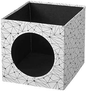 IKEA/イケア LURVIG:キャットハウス33x38x33 cm ホワイト ブラック(004.648.58)