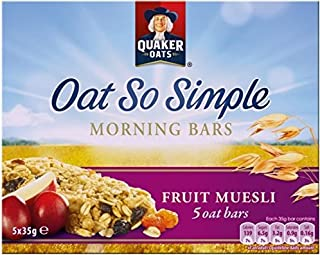 Quaker Avena Tan Simple Bares Mañana Muesli De Frutas (5X35g) (Paquete de 6