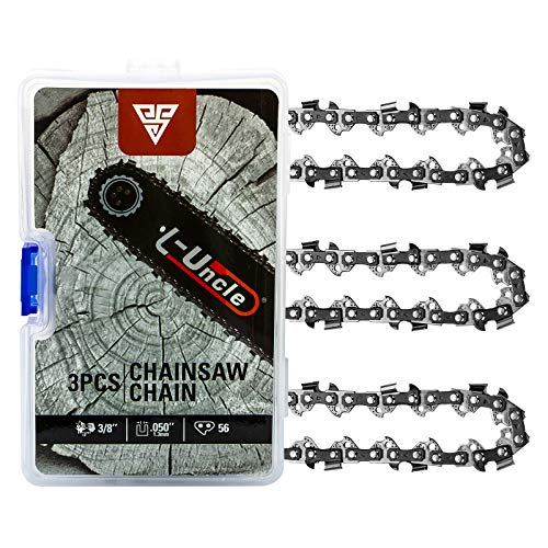 Loggers Art Gens Chainsaw Chain for 16-Inch Bar SG-S56, 3/8' LP Pitch - .050' Gauge - 56 Drive Links, Compatible with Craftsman/Sears, Echo, Homelite, McCulloch, Poulan, Worx, Chicago (3-Pack)
