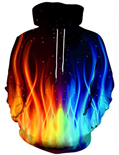Hgvoetty Unisex Digital 3D Print Hoodies for Men Women Cool Graphic Sweatshirts for Adults L