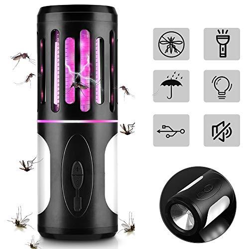 BASEIN Lámpara Antimosquitos Electrico 2 en 1, Asesino de Mosquitos con Lámpara de Camping y Linterna, Mata Mosquitos Insectos Moscas, Antimosquitos Lámpara Camping Impermeable para Exterior Interior