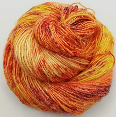 Handgefärbte Hanfwolle