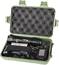 Tactical Flashlight Kit,Led Flashlight 5000 Lumens 5 Modes Zoomable Torch Light Lamp Set ((1 X 18650 3.7 Rechargeable Battery+1 X Flashlight +1 X Battery Charger+1 X Box) (Black)